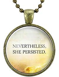 フェミニストはネックレスを引用しますが、それにもかかわらず、彼女はペンダント、男女平等フェミニズムジュエリー