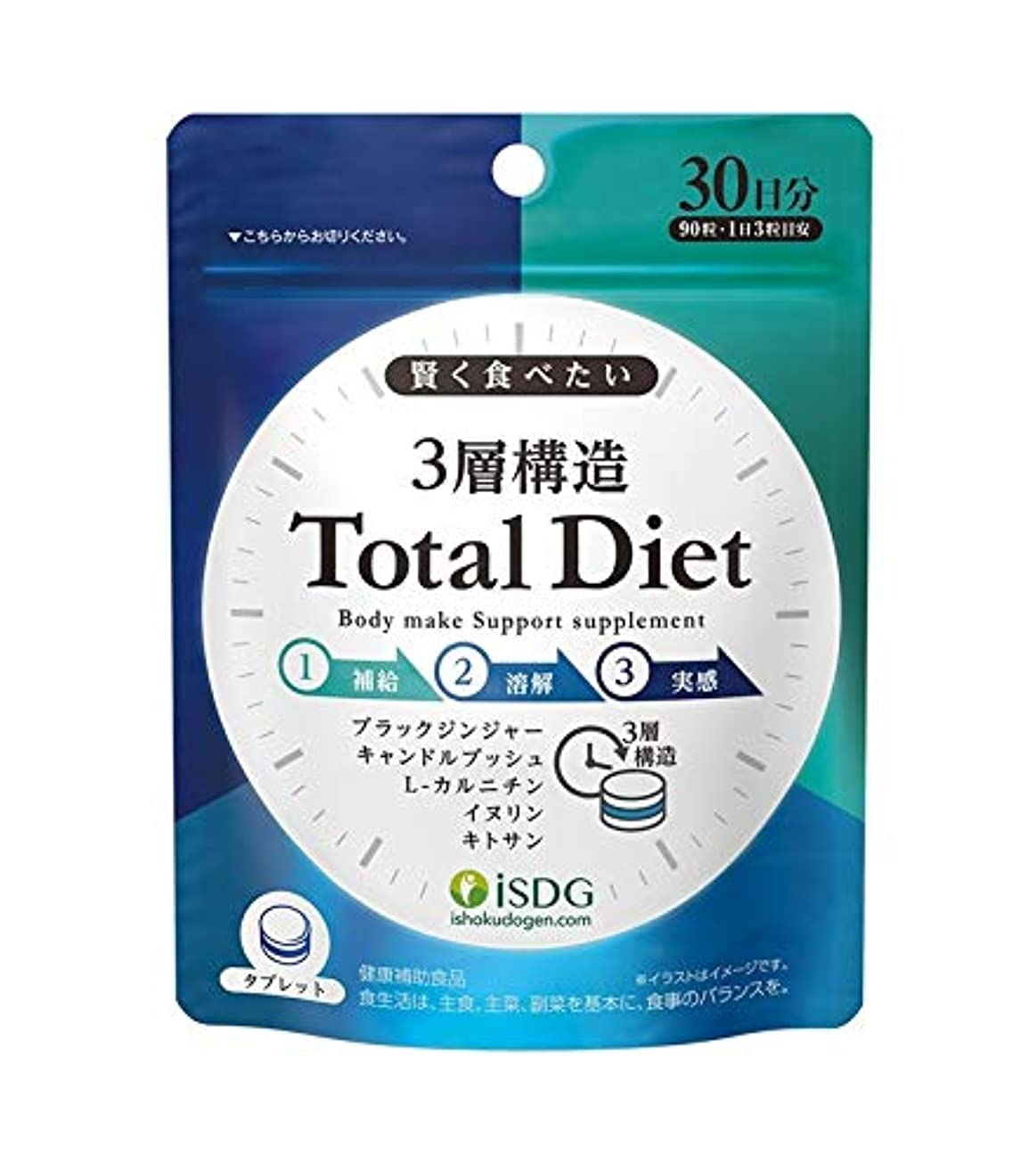 不振コインから聞く医食同源 3層構造Total Diet 90粒