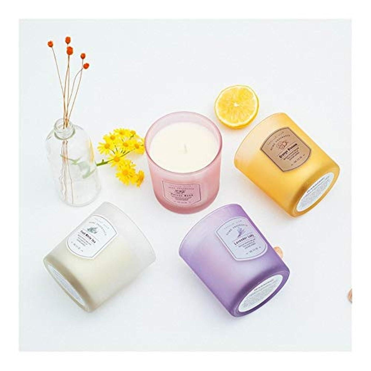 誇張破壊的袋Guomao キャンディーカラーフレグランスホームウォーマー無煙キャンドルアートアロマセラピーレストランロマンチックキャンドル (色 : Purple)