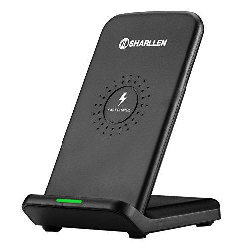 Qi 急速 ワイヤレス充電器 10W QC 2.0 二つのコイル ワイヤレスチャージャー Type-C入力 置くだけ充電 Galaxy Note8/S8/S8 Plus/ S7/S7/ iPhone 8 / iPhone 8 Plus / iPhone X/他Qi対応 qi 充電器 BY sharllen