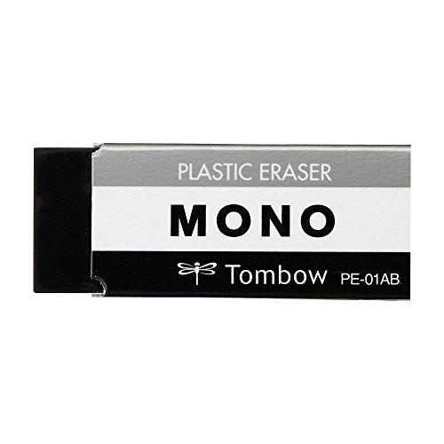 トンボ鉛筆 消しゴム MONO PE01 JCC-261 ブラック 2個