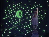 SEALEN 216個セット夜光テッカー 星と月のステッカー 部屋飾り 壁紙シール 壁、天井、家具などに パーティー 誕生日 ギフト用