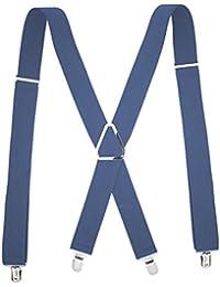 COMVIP 幅広 クリップ4個 メンズ サスペンダー ズボンつり ショルダーサスペンダー ファッション ズボンクリップ 吊りバンド