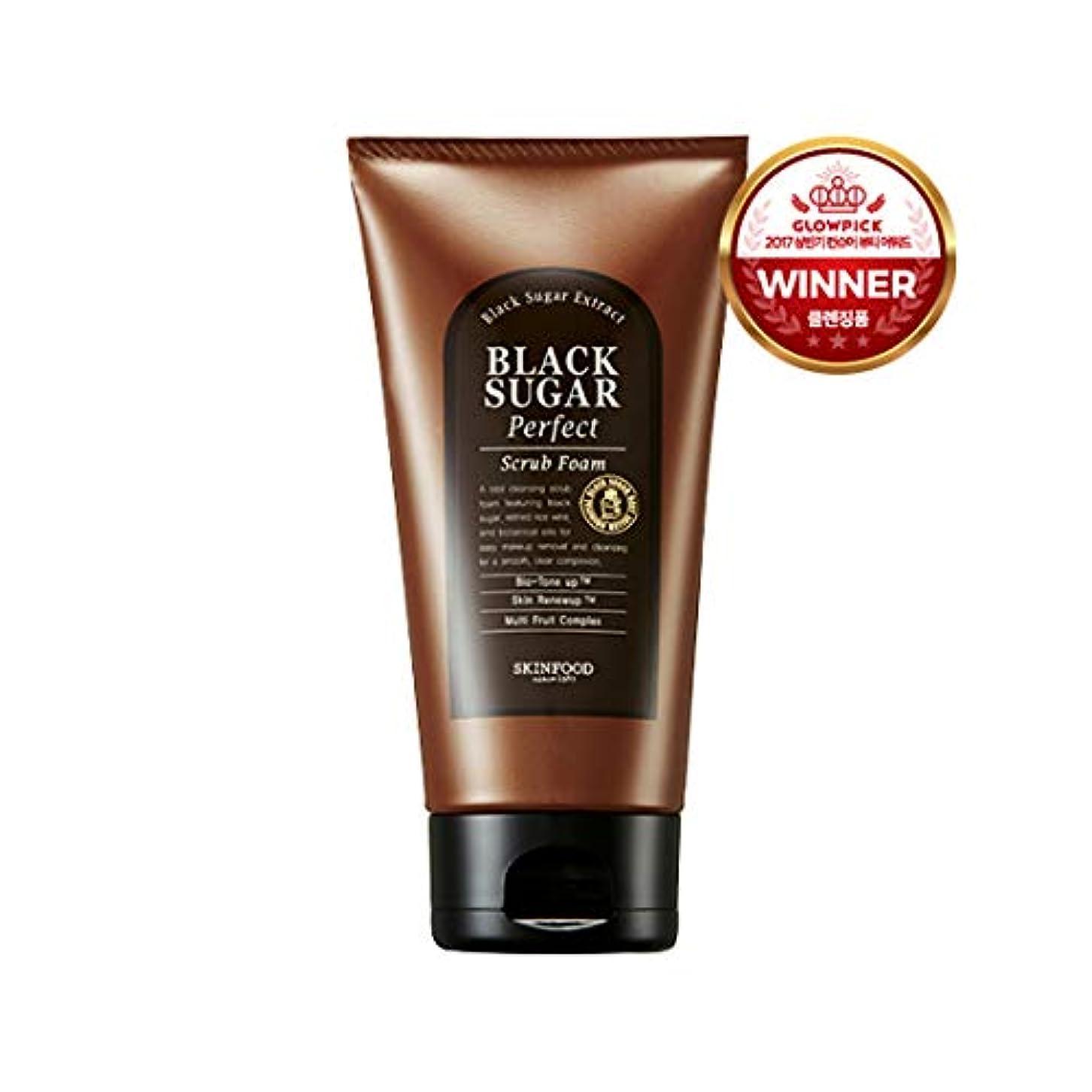 寝る最大限入射Skinfood/Black Sugar Perfect Scrub Foam/ブラックシュガーパーフェクトスクラブフォーム/180g [並行輸入品]