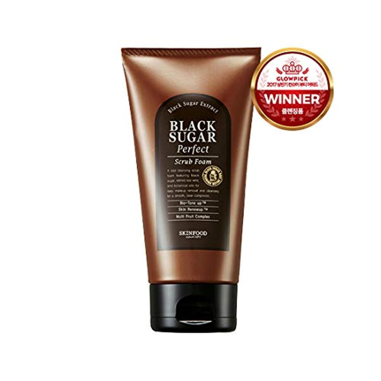 留まるリビジョン安定Skinfood/Black Sugar Perfect Scrub Foam/ブラックシュガーパーフェクトスクラブフォーム/180g [並行輸入品]