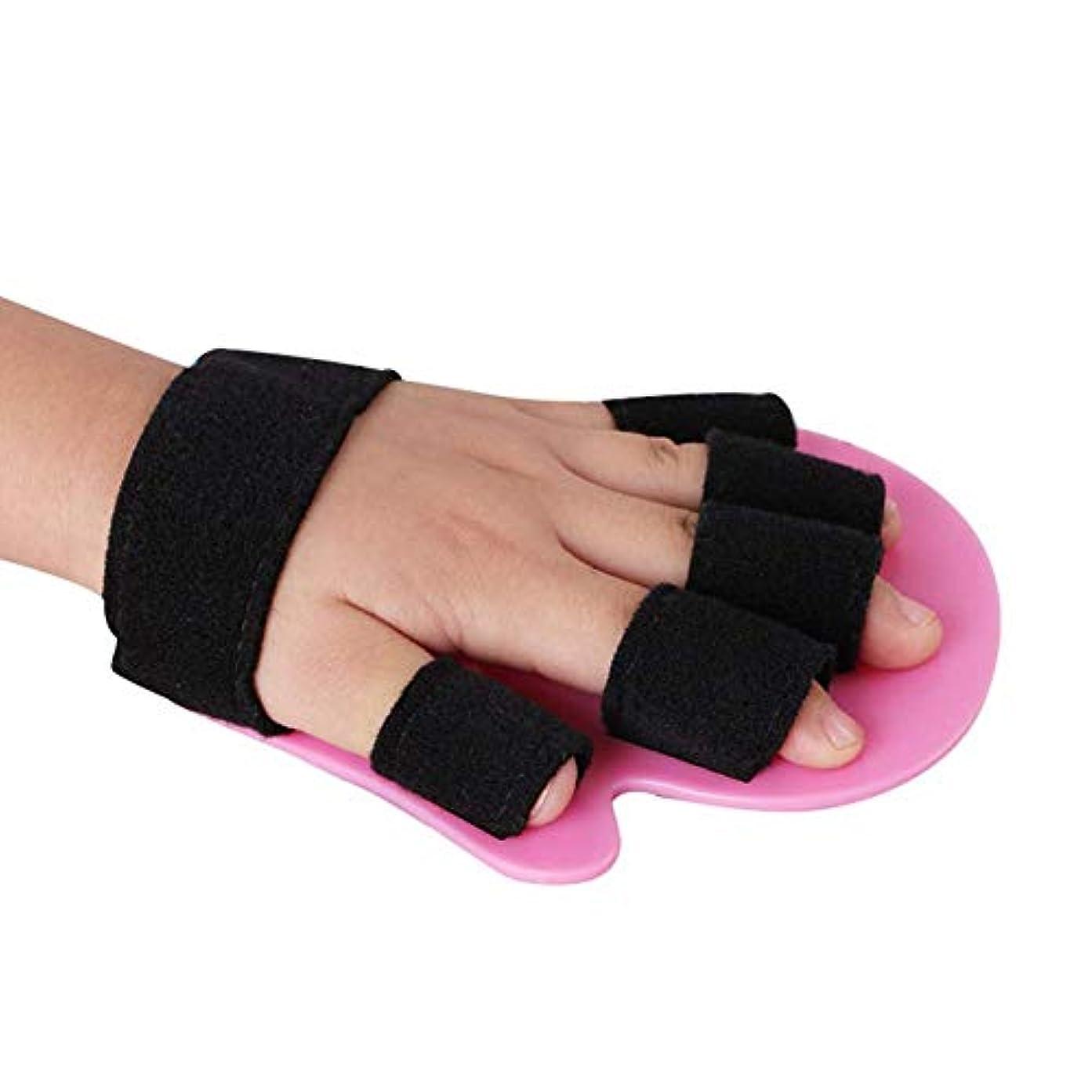 書誌メロドラマティックバイオレットスプリント指指セパレーター、手の手首の装具は別のデバイス患者関節炎リハビリテーション支援Brace1-5歳サポートばね指のスプリントを指