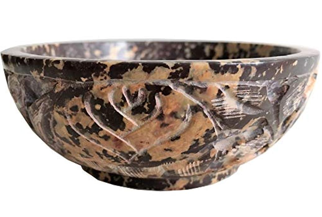 横に静的パラシュートソープストーンIncense Burner Bowl / Smudgeポット/ウィッカRitual Offeringボウル5
