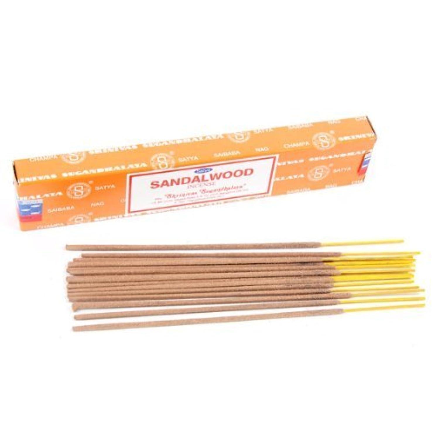 台風シャット葉を拾うSatya Sandalwood Nag Champa 12 Incense Sticks by Puckator [並行輸入品]