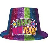 新しいYears Multi Glitter Top Hat