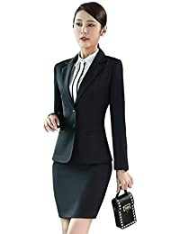 BCSY レディース スカートスーツ2点セットor パンツスーツ 2点セットorべスト1枚orシャツ1枚選べる 上品 エレガント OL ボタン2枚 無地 事務服 オフィス 就活 ビジネス 通勤 大きいサイズ ブラック ネイビー