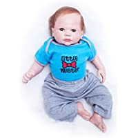 SanyDoll Rebornベビー人形ソフトシリコン20インチ50 cm磁気Lovely Lifelike Cute LovelyベビーブルーSuit Boy Toyギフト