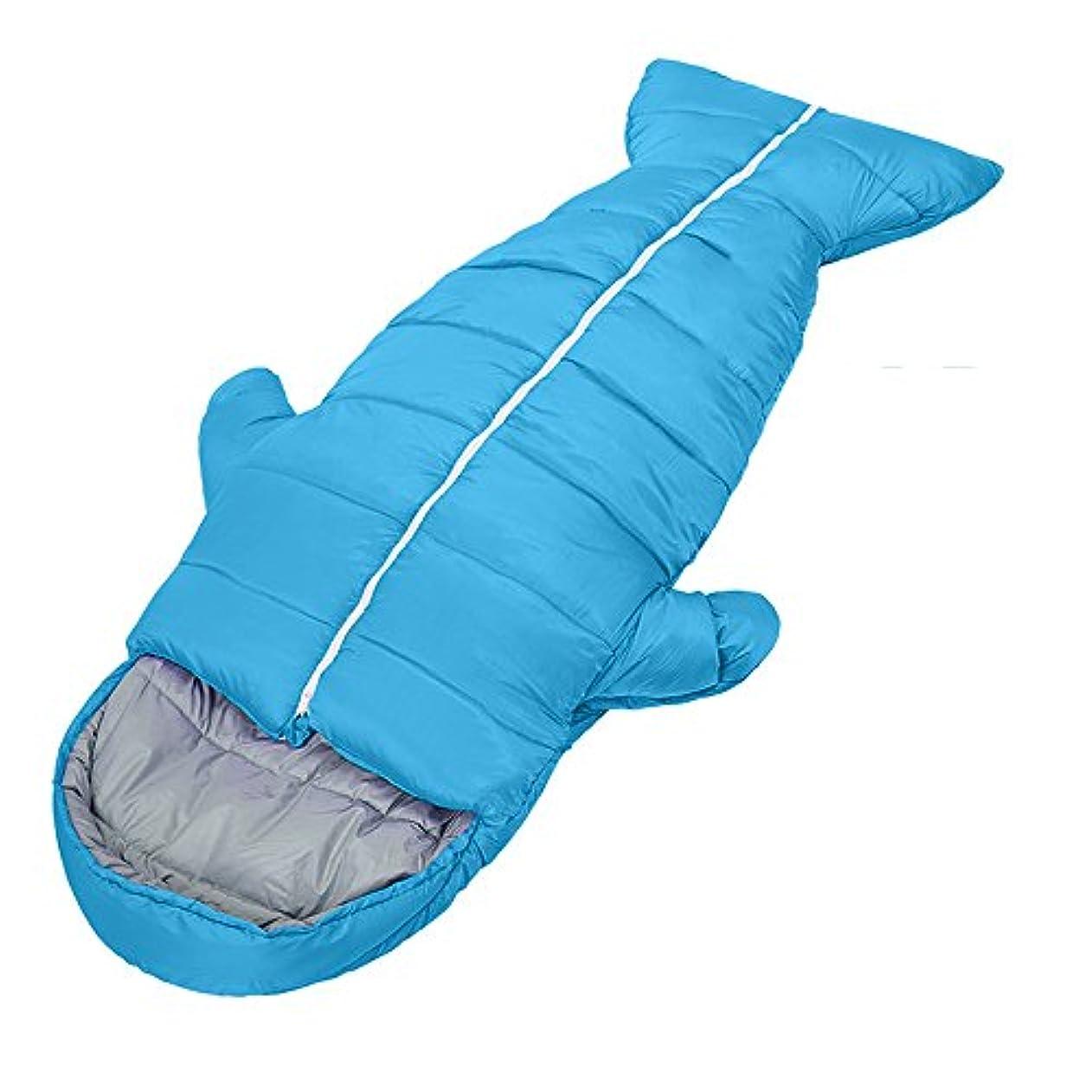 着陸軽量起点LJHA shuidai 寝袋屋外キャンプ成人プラス厚い寝袋秋と冬の暖かい寝袋 (色 : Blue)