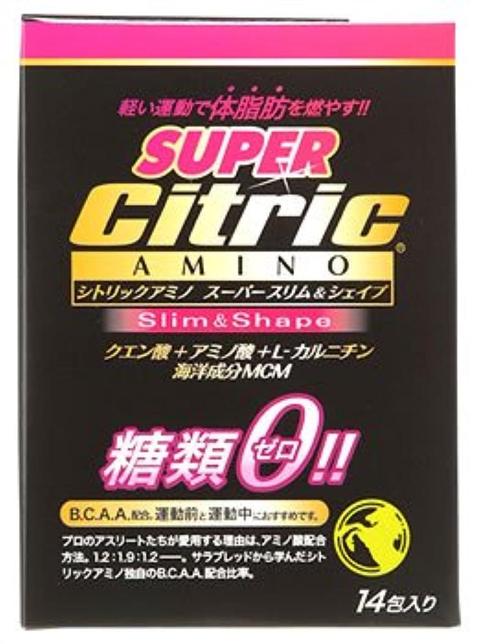 れんがプレート頬メダリスト?ジャパン シトリックアミノ スーパースリム&シェイプ JP (6g×14包入) クエン酸 アミノ酸 糖類ゼロ