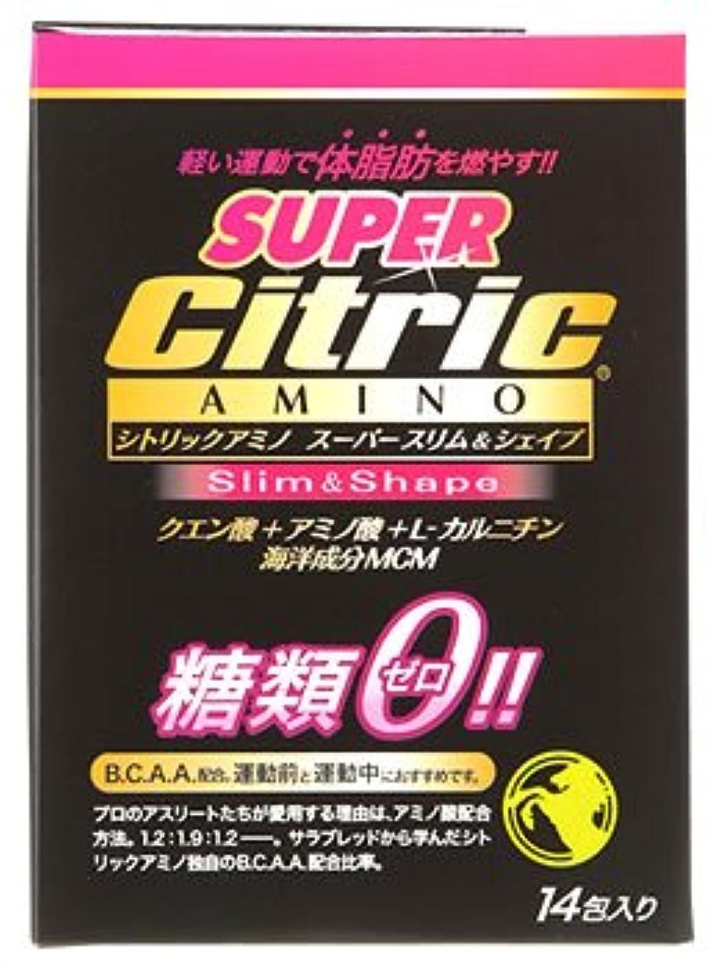 赤字フィード持ってるメダリスト?ジャパン シトリックアミノ スーパースリム&シェイプ JP (6g×14包入) クエン酸 アミノ酸 糖類ゼロ