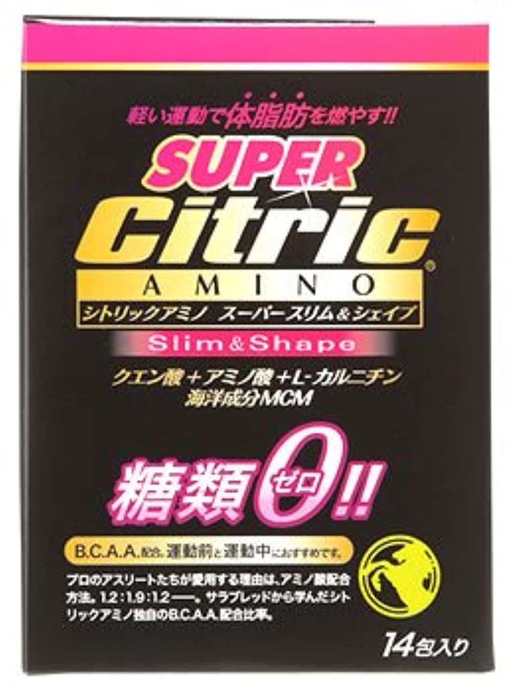 ランドマーク地味な虚栄心メダリスト?ジャパン シトリックアミノ スーパースリム&シェイプ JP (6g×14包入) クエン酸 アミノ酸 糖類ゼロ