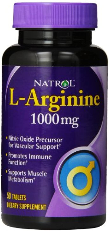 独占ラショナル非難するNatrol - L-アルギニン 1000 mg 50錠剤