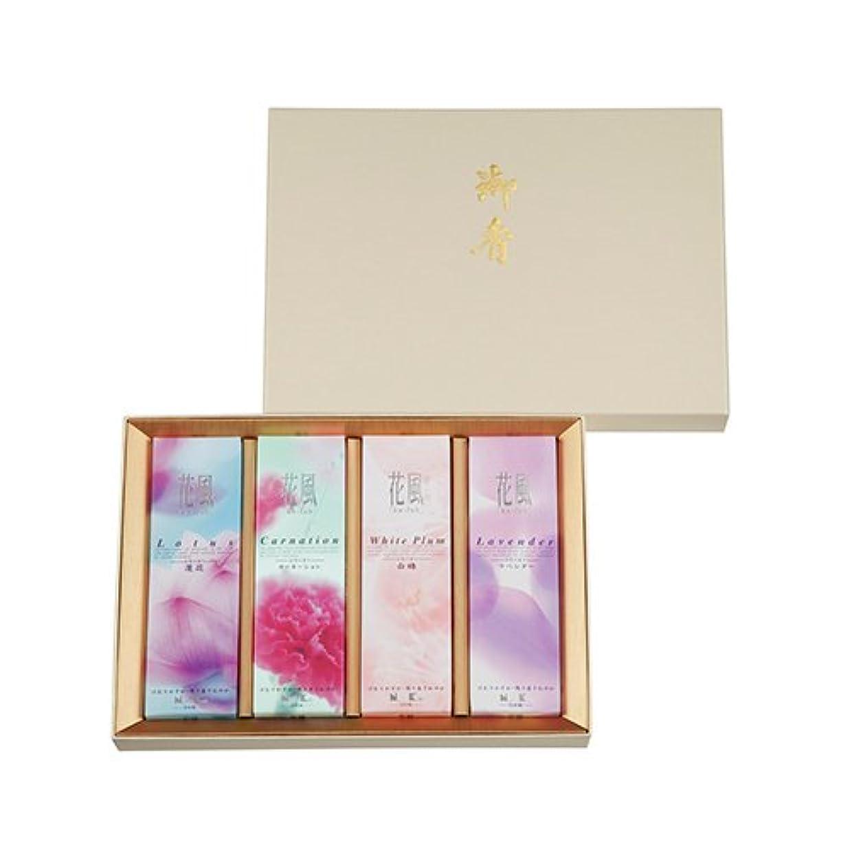 設計図そこからモザイク日本香堂 花風アソート 進物4箱入