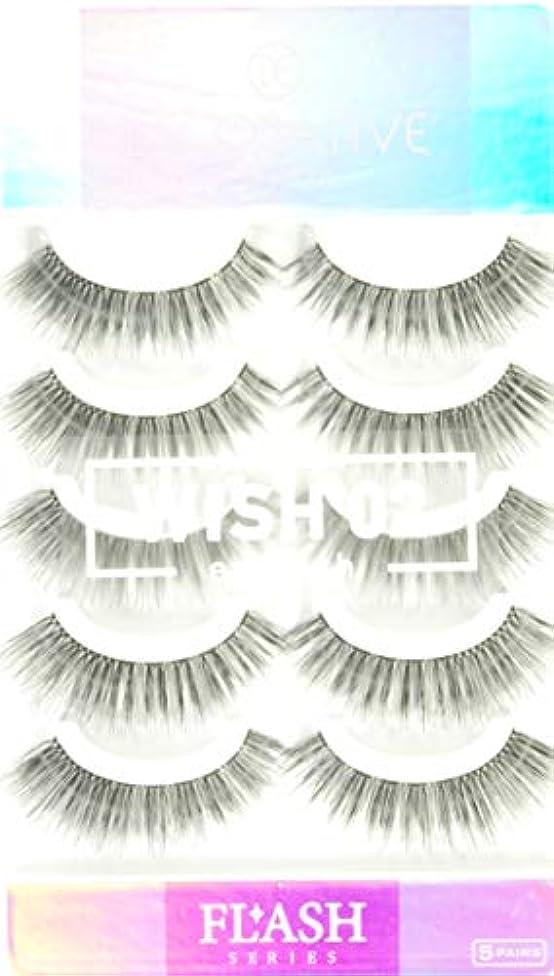 化粧アクセントハウスDECORATIVE EYELASH デコラティブアイラッシュ つけまつげ 上まつげ用 FLASHシリーズ WISH ウィッシュ02 SE49059