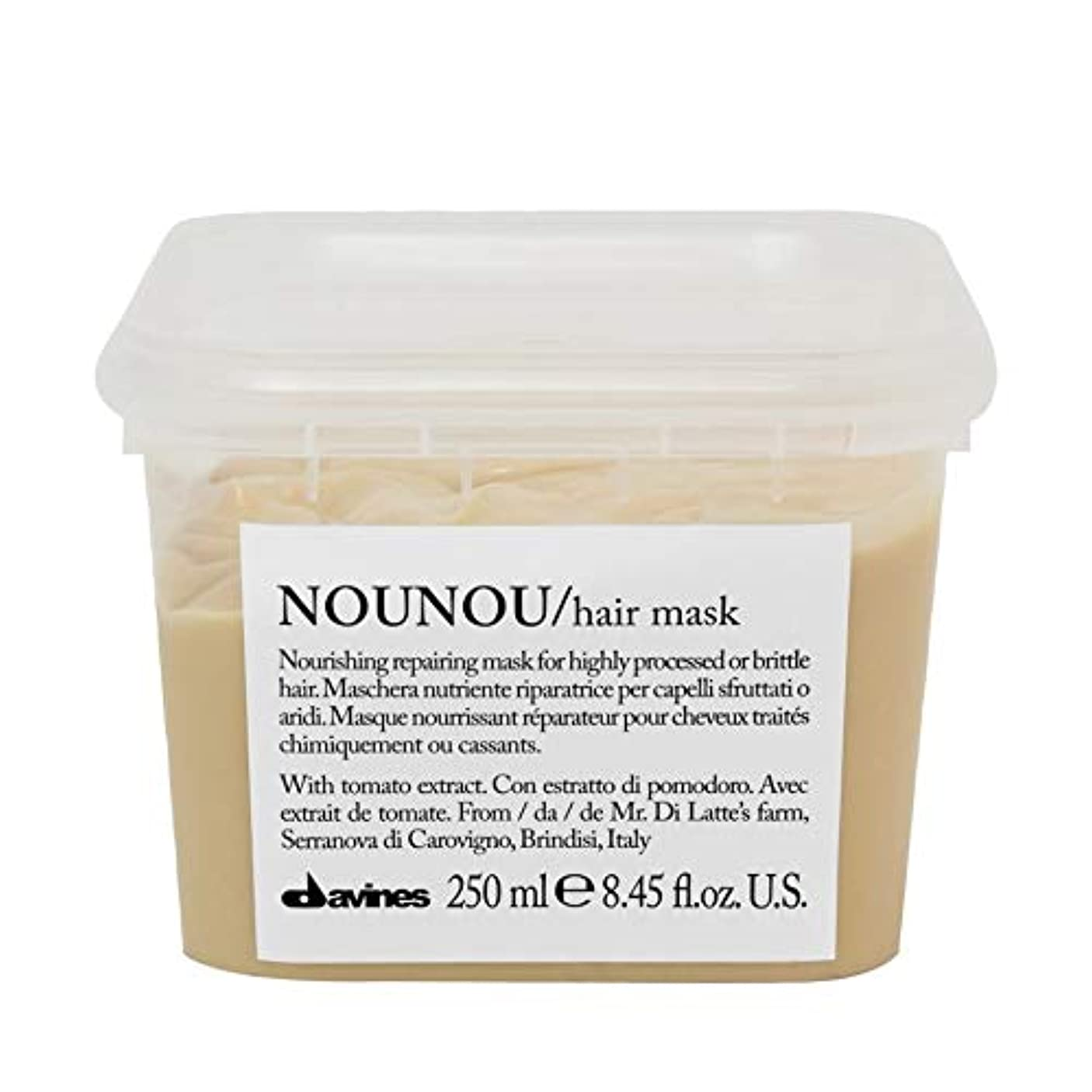 扱うボックス負担[Davines ] ヘアマスク250ミリリットルノウノウダヴィネス - Davines Nounou Hair Mask 250ml [並行輸入品]