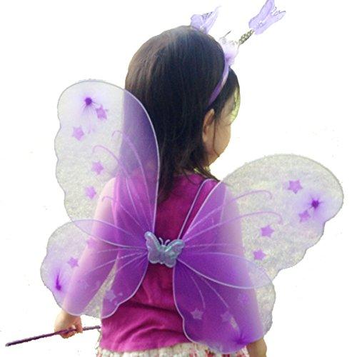 (トレテゾーリ)Tre tesori 妖精 ちょうちょ 羽根 子ども ハロウィン イースター コスチューム 女の子 カチューシャ バタフライ セット