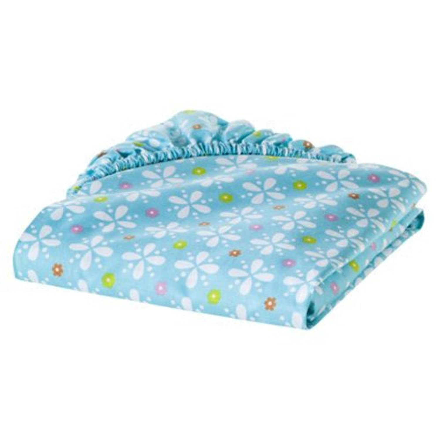 Sumersault Multi Birdie Patches Fitted Crib Sheet by Sumersault