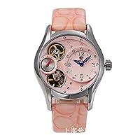 52fcb4e647 HWCOO 美しい時計 FORSINING / 686ファッション中空自動機械式腕時計女性ダブルムーブメントレザー