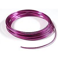 紗や工房 アーティストワイヤー 径約1.5mm 約4m ラベンダー カラーアルミワイヤー ワイヤークラフト材料 ビーズ手.