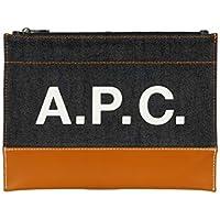 A.P.C. Men's CODDPH63293CARAMEL Multicolor Cotton Clutch
