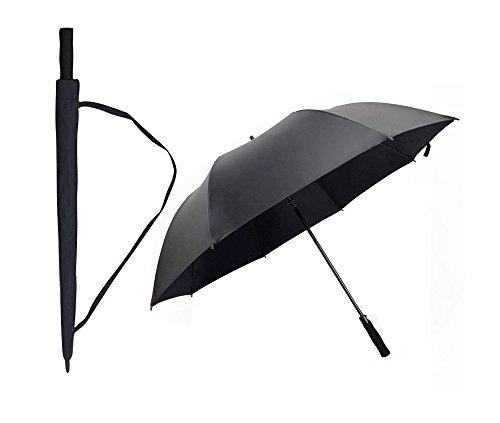 Energy【改良版】長傘 日傘 自動開け ジャンプ傘 かさ 匠 軽量 風に強い雨傘 撥水 丈夫 おしゃれ メンズ定番 紳士傘 大きい傘 16本骨 通勤 通学 (ブラック・8本骨)