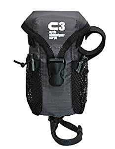 C3(サイクルキャンペイナーコープス) 自転車用ハンドルポーチ/小物入れ デジカメ&小物ポーチ (チャコールグレー)