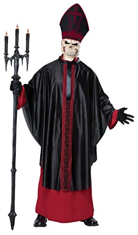 眠いです彼らの落胆させる司祭 悪魔 スカル スカルマスク コスプレ ハロウィン メンズ 4点セット