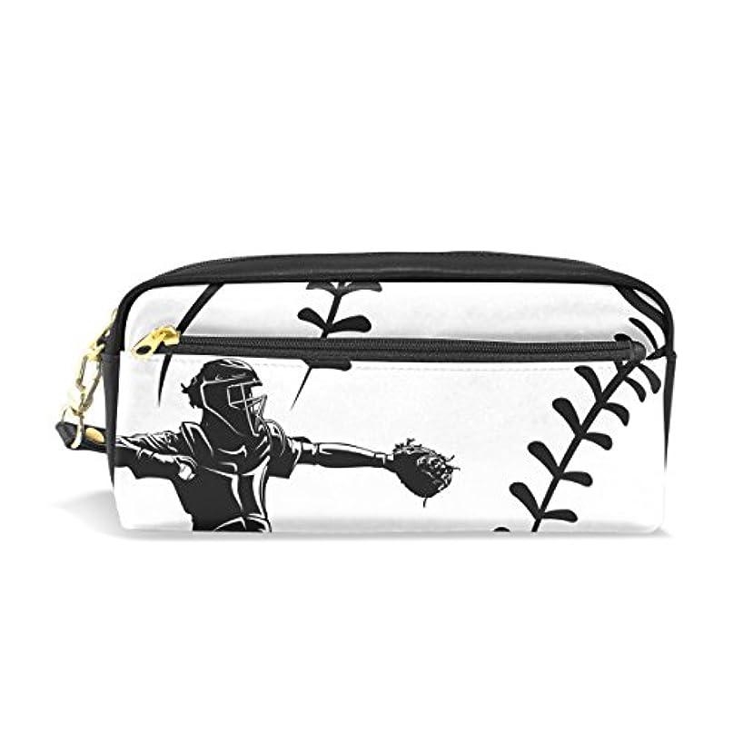 前提条件力目に見えるAOMOKI ペンケース 化粧ポーチ 小物入り 多機能 レディース 野球