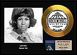 アレサ・フランクリン/Aretha Franklin/gold disc album/金ゴールド ディスク/platinum disc album/プラチナディスク証明書付きフレーム/ディスプレイ/cd (Lady Soul-3, GOLD DISC)