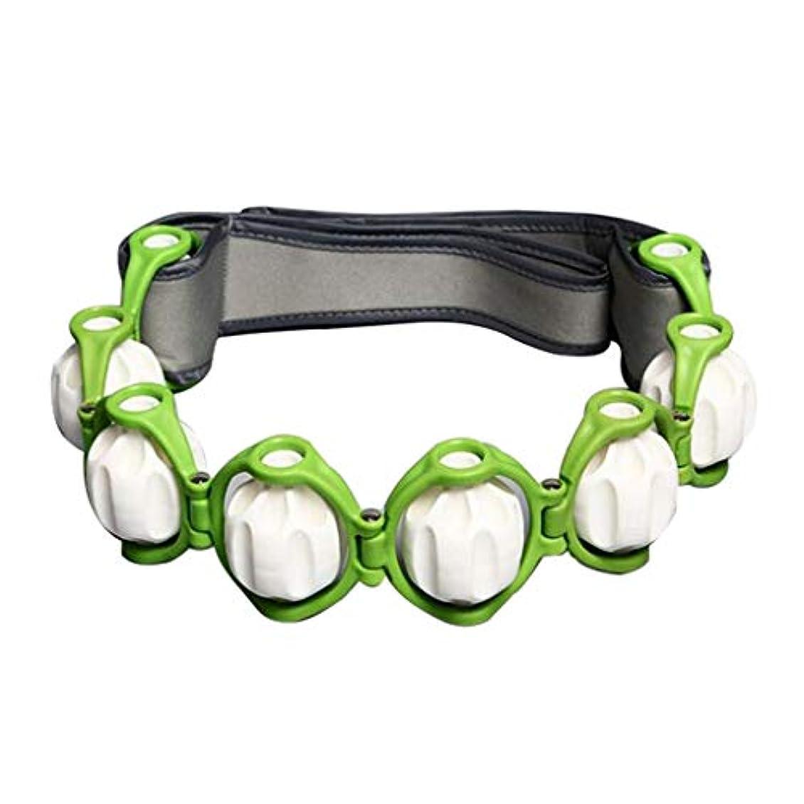ビジュアルスマート十ボディマッサージローラー ロープ ショルダー ネック フット マッサージツール 4色選べ - 緑, 説明したように