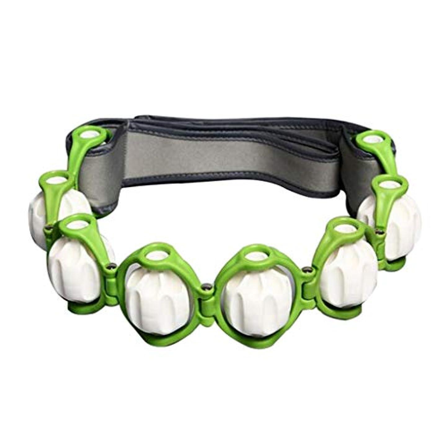 復活意味する重さボディマッサージローラー ロープ ショルダー ネック フット マッサージツール 4色選べ - 緑, 説明したように