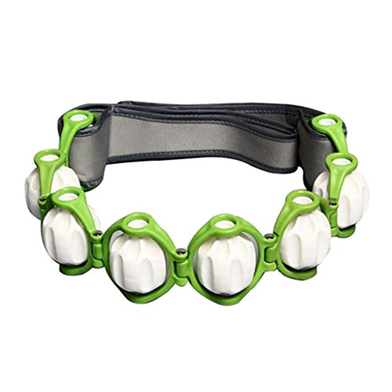 薄暗い協力時系列ボディマッサージローラー ロープ ショルダー ネック フット マッサージツール 4色選べ - 緑, 説明したように