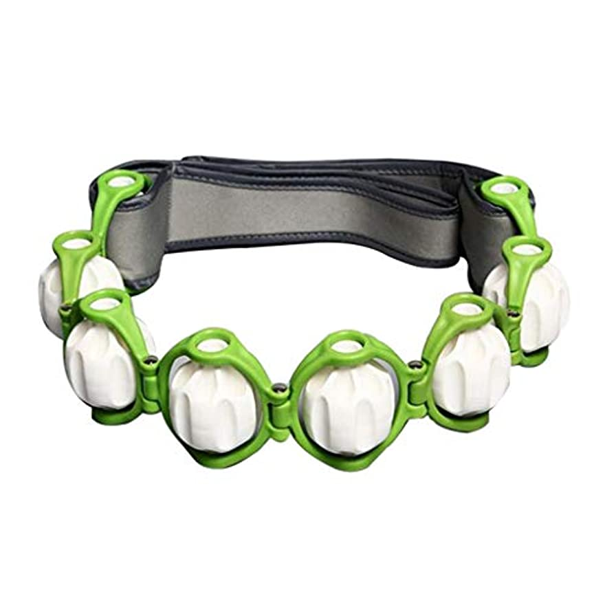 独立して邪魔する委任するボディマッサージローラー ロープ ショルダー ネック フット マッサージツール 4色選べ - 緑, 説明したように