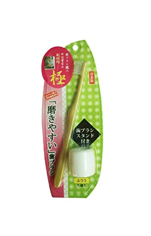 週間脚喜ぶ磨きやすい歯ブラシ極 先細毛 歯ブラシスタンド付 LT-23 ゴールド