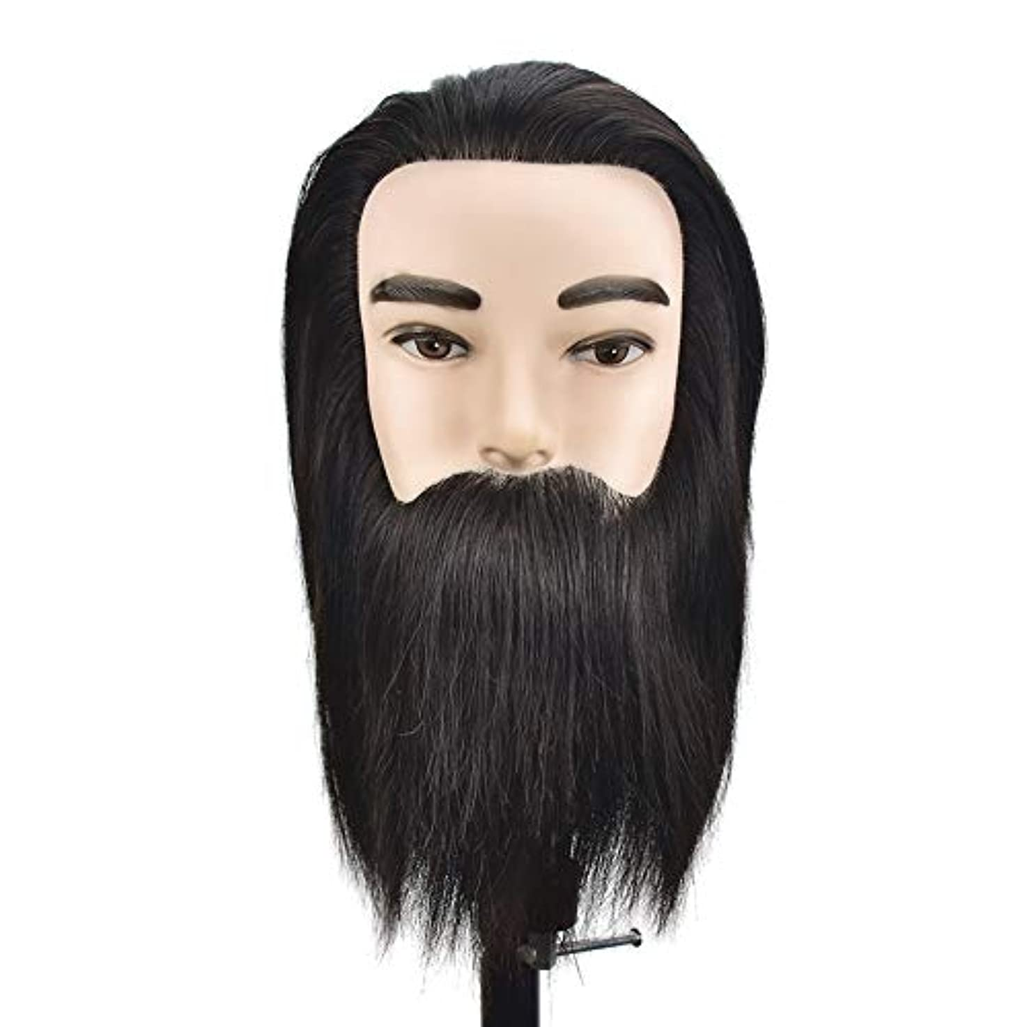 円周横たわる個人的なリアル人間の髪トレーニングヘッドパーマ髪モデル髪染め理髪ダミーヘッドトリミングひげ学習ヘッドモデル