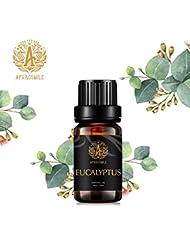 ユーカリの精油、100%純粋なアロマセラピーエッセンシャルオイルユーカリの香り、ストレスや悲しみを和らげ、治療用グレードエッセンシャルオイルユーカリの香り為にディフューザー、マッサージ、加湿器、デイリーケア、0.33オンス...