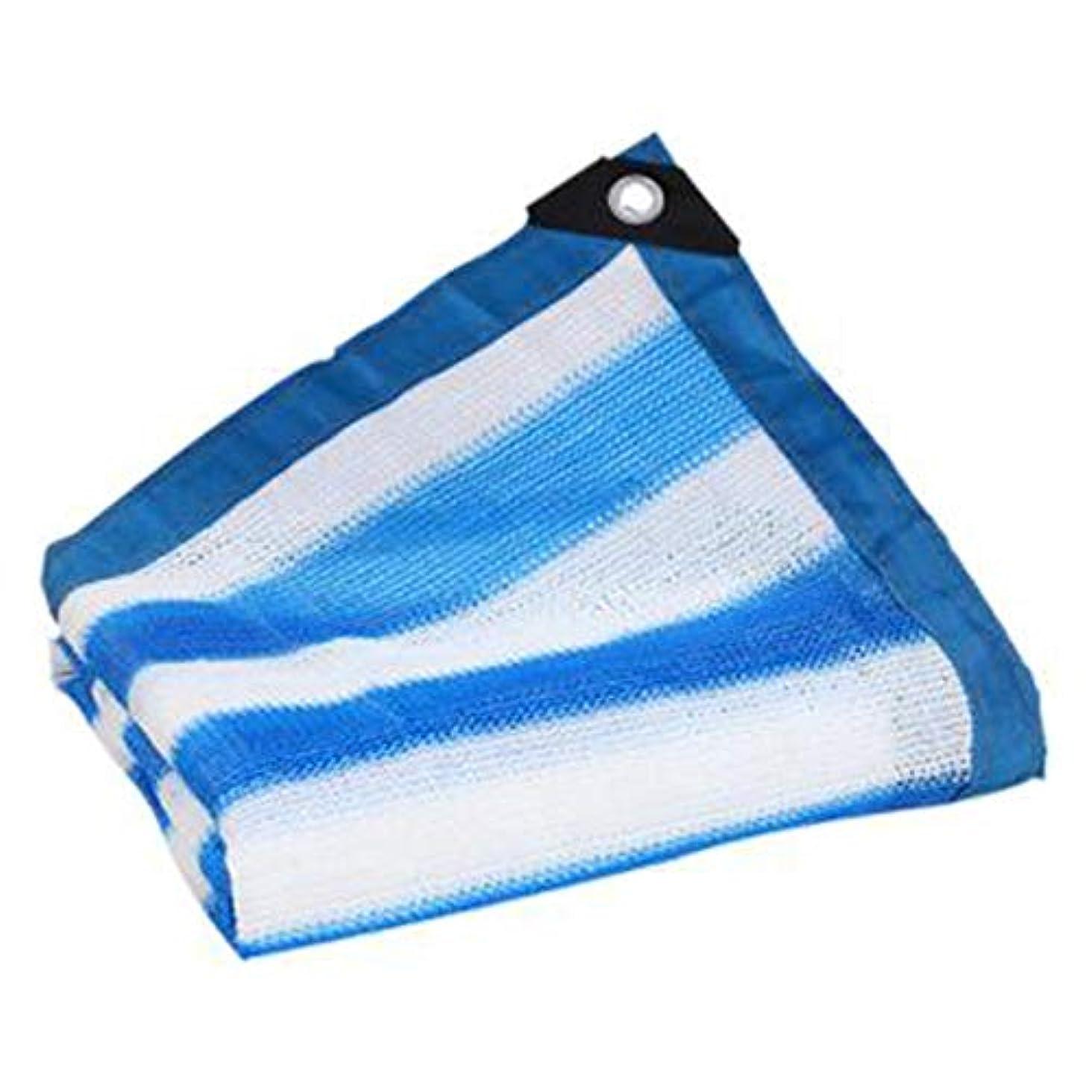 薬先気取らない遮光布 遮光ネット ポリエチレン、 厚い暗号化 6ピン密度 25サイズ シェードシェード/ルーフ冷却,blue+white,2*2m