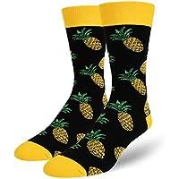 Zmart Men's Novelty Crazy Funky Fruit Crew Socks Cool Funny Pineapple Avocado Socks