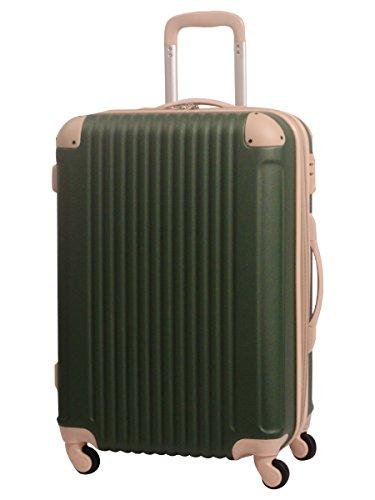 S型 ヨモギ×ベージュ / FK1212-1(POP・DO) 機内持込 スーツケース キャリーバッグ TSAロック搭載 超軽量