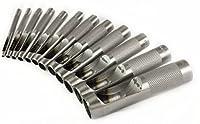 革穴パンチ ベルト穴あけ機 中空 12本セット 3mm-14mm ハトメ抜き丸い穴あけ レザーツール
