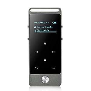 AGPtEK M20 8GB 合金素材 HiFi超高音質のMP3プレーヤー タッチボタン付き マイクロSDカード64GBに対応