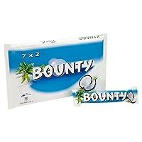 バウンティミルクチョコレート7×57グラム (x 2) - Bounty Milk Chocolate 7 x 57g (Pack of 2) [並行輸入品]