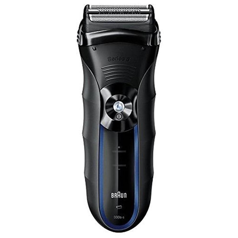 命令的窓を洗う体細胞ブラウン 3枚刃シェーバー Series3 ブラック/ブルー 330S5Z