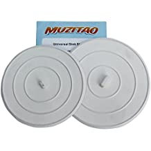 Sink Stopper (2 Pack) Rubber Bathtub Drain Stopper & Kitchen Sink Plug The Best Universal Sink Stopper And Travel Plug By Muzitao
