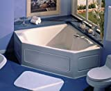 Jacuzzi trs6060wcr2X XA 60-inch X 60-inch Taraドロップ3つの壁でアルコーブ快適Whirlpool Bathtub with、基本的なコントロールセンタードレインと右ポンプ