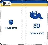 iPhone/Xperia/Galaxy/他機種選択可:バスケ/シルエット手帳ケース(フルカラー/ホーム/ゴールデンステイト:30番_E) 05 iPhone7